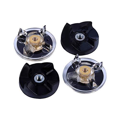 2 Basisgetriebe Base Gear+ 2 Rubber Blade Gummiblatt Zahnräder Ersatz Mixer Ersatzteile Mixer Zubehör, für Magic Bullet 250W Juicer