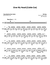 Fray, The - Over My Head (Cable Car): Drum Sheet Music (English Edition)