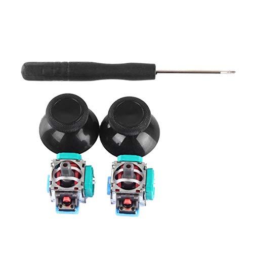 2 Unidades de joystick analógico 3D Módulo de sensor de 3 pines Potenciómetro con palillos para Playstation 4 Reparación de controlador PS4 al por mayor (Color: verde)