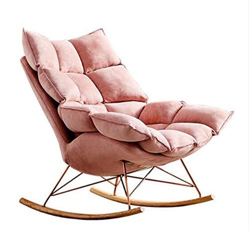 HongTeng Lectura Silla del Ocio Individual, Silla Perezosa del sofá, Mecedora, Dormitorio y Sala de Estar, 93 × 90 × 60 cm