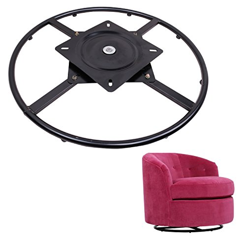 ECLV 360 Degrees Rotate Swivel Round Chair Recliner Base Bracket Couch Mechanism Bottom Plate Hinge Hardware,Black,24''
