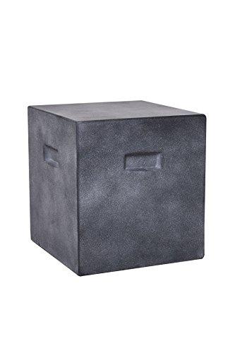 Vivanno Beton Beistelltisch Tisch Hocker Sitzhocker eckig Sitta 40 x 37 x 37 cm, Anthrazit