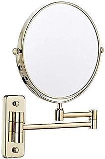 """مرايا الحمام تعلق على الحائط، مرآة مزدوجة الوجهين 3X التكبير مرآة التجميل 8 """"مرآة فانيتي 360 التفاف مجاني"""