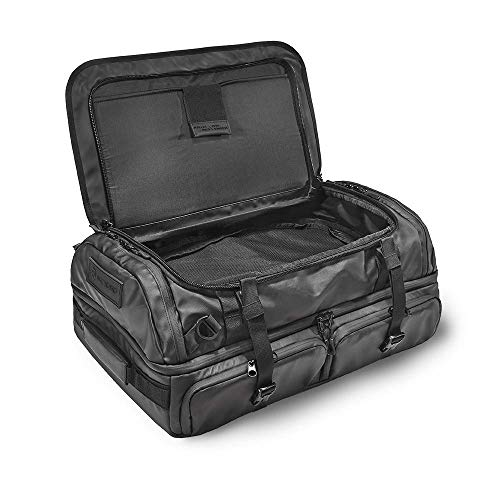 HEXAD Access 45L Duffel Bag - Travel Duffel Bag with Multiple Compartments for Organization (Black)