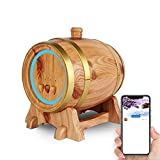 Hjgyugyutuy 5 en 1 Bluetooth Altavoz Aroma humidificador difusor, Humidificador silencioso del difusor del Aroma del Barril de Vino 350ml, Adecuado para SPA/Yoga/Oficina, etc.