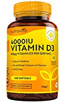 ✔ WHY IS NUTRAVITA VITAMIN D3 4000 IU GREAT VALUE FOR MONEY? – Our Maximum Strength Full-Year Supply soft gel capsules with an extra month FREE are especially formulated to aid in normal maintenance of our bones, teeth, muscles and immune system even...