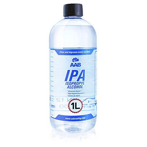 AAB IPA 1L - Un Alcohol Isopropilico Eficaz Para la Limpieza, Universal Alcohol IPA, Screen Cleaner, Alcool Isopropyl, Alcohol Puro, Para Limpieza Electrónica