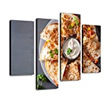 YKing1 Mexican Quesadilla with Chicken Tomato Corn Cheese Wall Art Painting Pictures Print On Canvas...