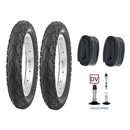 P4B | Neumáticos infantiles completos de 16 pulgadas - Set = 2 neumáticos 47-305 (16 x 1,75) | 2 cámaras de 16 pulgadas | DV.
