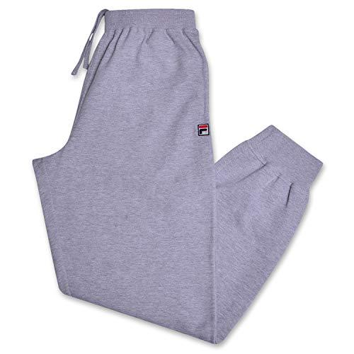 Fila Mens Joggers Sweatpants Men Athletic Fleece Sweatpants with Pockets Heather Grey 3X
