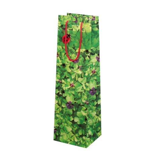 Susy Card 11277548 Geschenktaschen, 10-er Packung, glänzendes Papier, Motiv Glücksklee 2