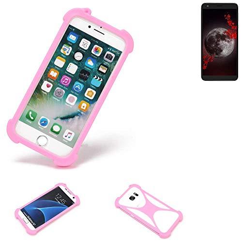 K-S-Trade® Handyhülle Für Sharp Aquos B10 Schutzhülle Bumper Silikon Schutz Hülle Cover Case Silikoncase Silikonbumper TPU Softcase Smartphone, Pink (1x)