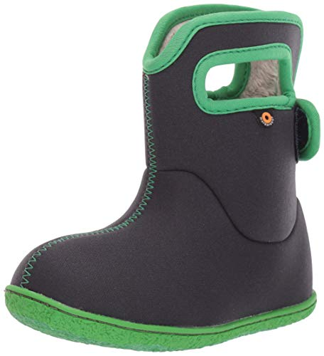 Bogs Girls Baby Waterproof Insulated Rain Boot, Solid-Navy, 10 Infant