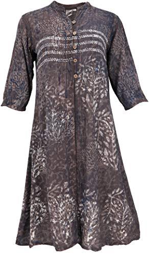 GURU SHOP Tunika, Indische Blusentunika, Damen, Modell 2, Synthetisch, Size:M (40), Blusen & Tunikas Alternative Bekleidung