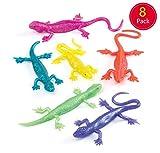 Baker Ross- Lagartos Elásticos Pequeños (Pack de 8) -Juguetes infantiles para bolsas de cotillón o piñatas