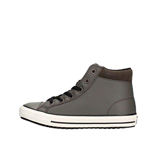 Converse - Sneakers a collo alto - All Star Conv Boot Pc Hi Leather Bambino e Ragazzo - 654310C - 38, Grigio-nero (charcoal-black)