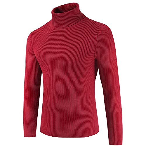 IFOUNDYOU Long Sleeve Turtleneck Men's Thermal Shirt Slim Straight Winter Pullover Men's Sweater Lightweight Sweater Slim Fit Turndown Wool Turtleneck Sweater 2020 New