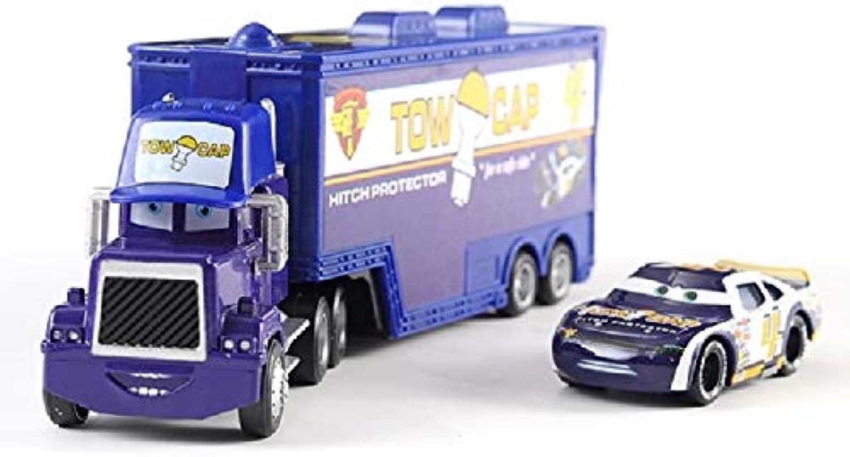 Disney 14 Styles Disney Pixar Cars Mack Uncle Lightning McQueen King Francesco Hudson Truck & Car Set 1 55 Diecast Model Toy Car Gift A