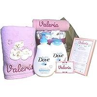 MabyBox My Dove   Canastilla Bebe   Regalo Original Recien nacido   Cesta de Bebe Personalizada   Set regalo Bebe (Rosa)