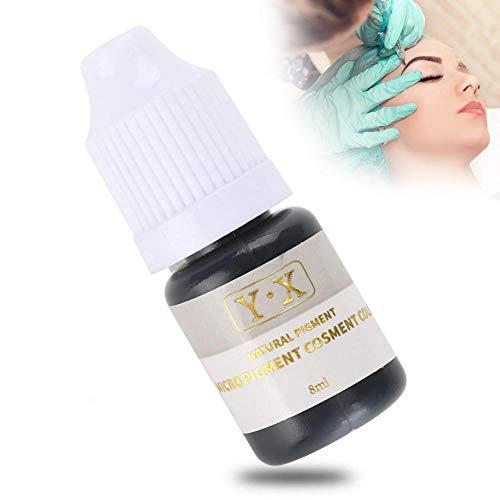 Tinta para tatuajes para cejas Pigment Ink Semi-Permanent Makeup Eyebrow Lips Eye Line Color pigmento del tatuaje kit maquillaje de moda cosméticos herramientas(negro)