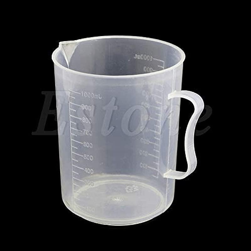 EHOO 1000ML Plastic Graduated Measuring Cup Jug Pour Spout Surface Kitchen 1Pc