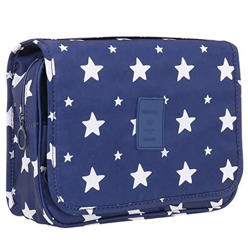 Freelynn Neceser Maquillaje Mujer Hombre Bolsa de Aseo para Baño Viaje - Estrellas Azul