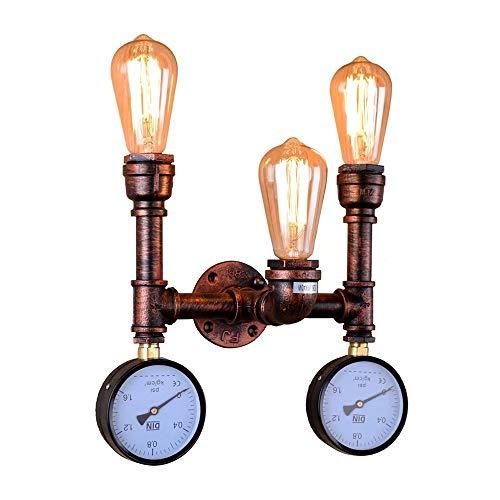 XYJGWBD Luz de Pared de tubería de Agua rústica Industrial Vintage Arriba o Abajo de luz