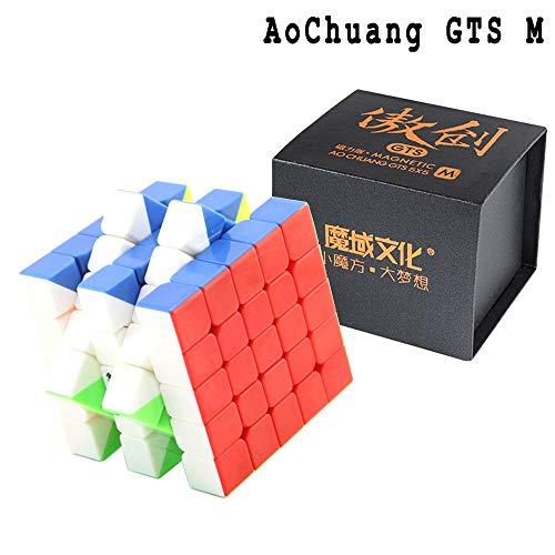 SOKOYO MOYU AoChuang GTS 5x5x5 Cube Professional Speed Smooth Cube Magic Puzzle mit Einem Würfel-Stativ und Einer Würfel-Tasche (Magnetic, Stickerless)