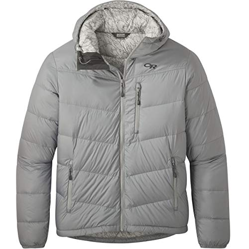Outdoor Research Transcendent Hooded Down Jacket - Men's Light Pewter, M