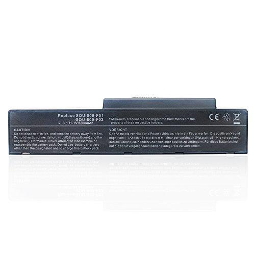 5200mAh Notebook Laptop Batterie Akku für Fujitsu Siemens Amilo Li3710 Li3910 Pi3560 Pi3660 Li-3710 Li-3910 Pi-3560 Pi-3660 SQU-809-F01 SQU-809-F02 SQU-808-F01 SQU-808-F02 SQU808F01 SQU808F02 3UR186502T0182 3UR18650-2-T0182 Battery
