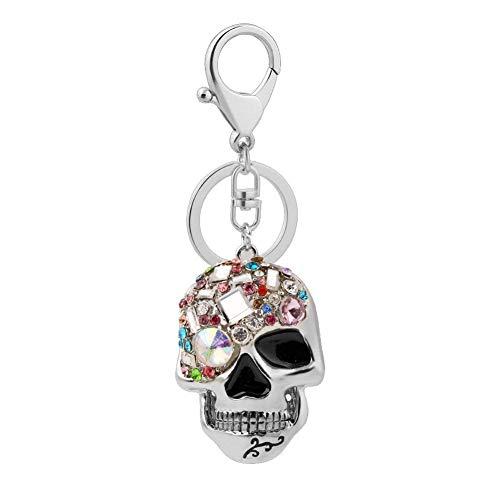 Creative Rhinestone Skull - Llavero para mujer, diseño de calavera