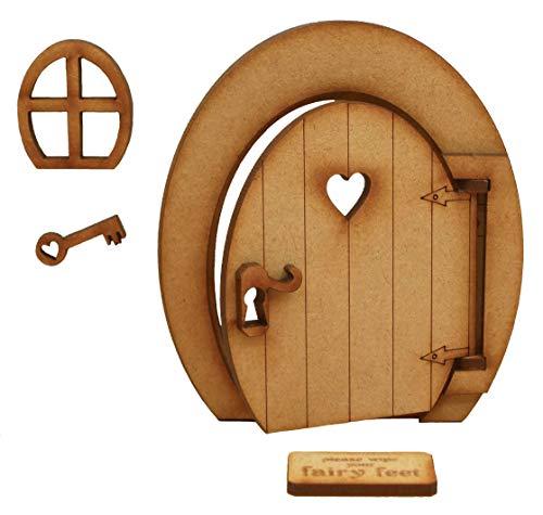 Ovale Öffnung Fee Tür. Ovale dreidimensionale Öffnung Fee Tür. Holz-Selbstmontage Handwerkskit.