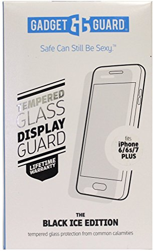 Gadget Guard The Black Ice Edition Tempered Glass Screen Protector for iPhone [6s Plus][7 Plus] [8 Plus]