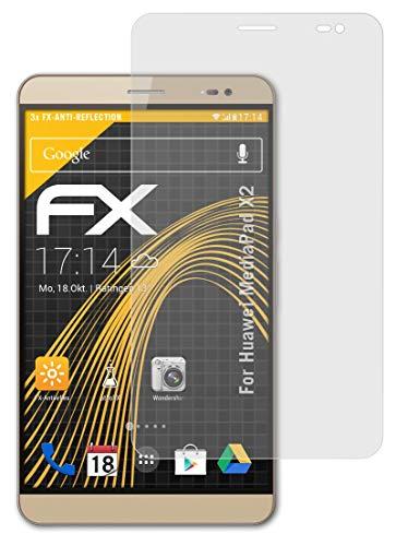 atFolix Panzerfolie kompatibel mit Huawei MediaPad X2 Schutzfolie, entspiegelnde & stoßdämpfende FX Folie (3X)