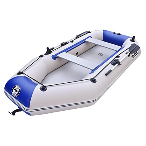 POTA kajak visboot 2-persoons opblaasbare boot set met aluminium roeispanen en luchtpomp