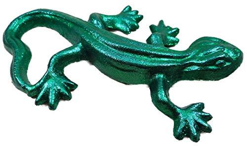GTT F143 - Salamandra de hierro fundido (14 x 9 cm), color verde metálico