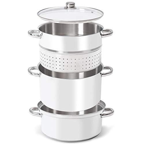 King77777 11-Quart New Durable Home Indoor Kitchen Stainless Steel Fruit Juicer Steamer Appliance Portable Compact Versatile Usage
