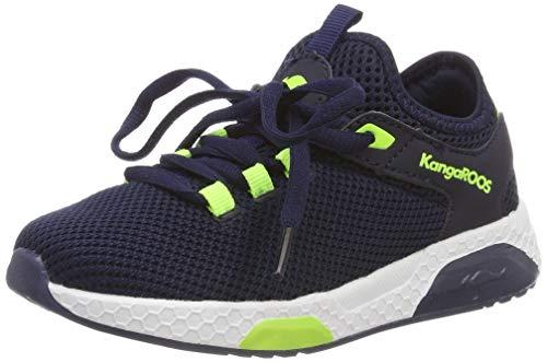 KangaROOS Kadee Sock Unisex-Kinder Sneaker, Blau (Dark Navy/Lime 4054), 28 EU