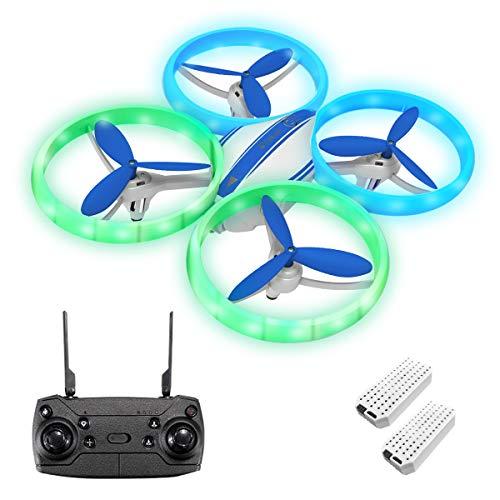 EACHINE E65H Mini Drohne für Kinder Anfänger,Kopflos Modus,3D Flip,Höchenhaltung, Automatische Rückkehr,3 Geschwindigkeiten,RC Quadrocopter (Mit 2 Akku)