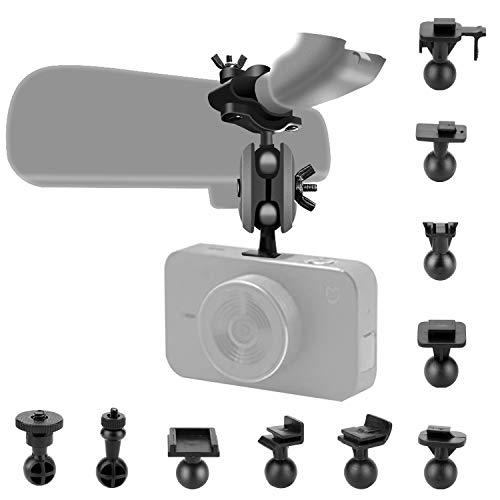 Dash Cam Spiegel-Halterungs-Set mit 16 verschiedenen Gelenken, geeignet für Apeman, Vantrue N2 Pro, YI, YI Nightscape, Byakov, SuperEye, Jeemak, Okey, Crosstour, Peztio etc.