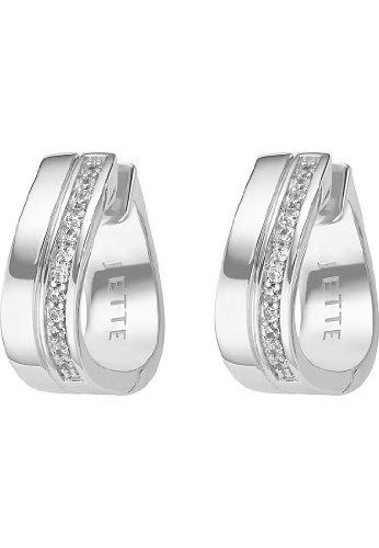 JETTE Silver Damen-Creolen 925er Silber 26 Zirkonia One Size 86735482