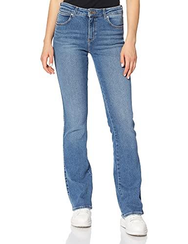 Wrangler Jeans Bootcut, Blu Canary, 30W / 34L Donna