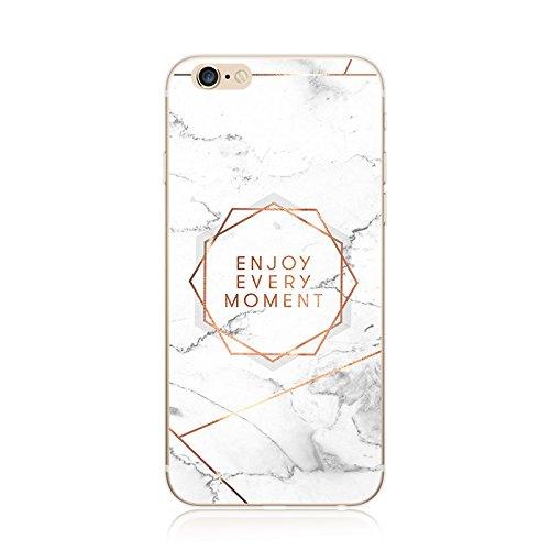 Schutzhülle für iPhone, transparent, Marmor-Optik, Silikon/TPU, ultradünn, hochwertig