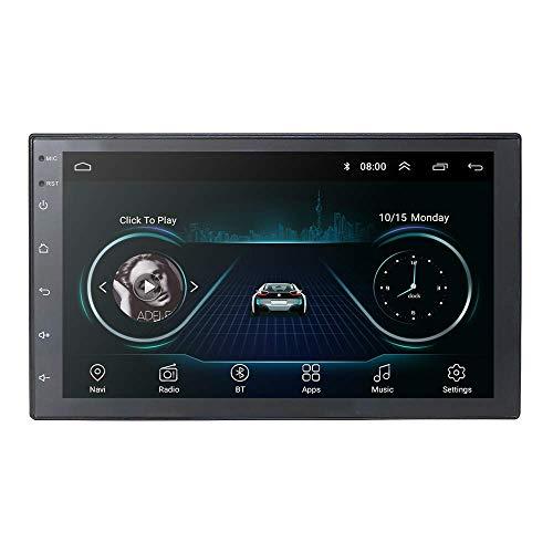 Navegación GPS universal para automóvil Reproductor de FM para vehículo 2 Din con sistema operativo Android 9.0 Pantalla táctil de 7 pulgadas Compatible con CAM-IN Mirror-link Bluetooth WiFi 4G USB