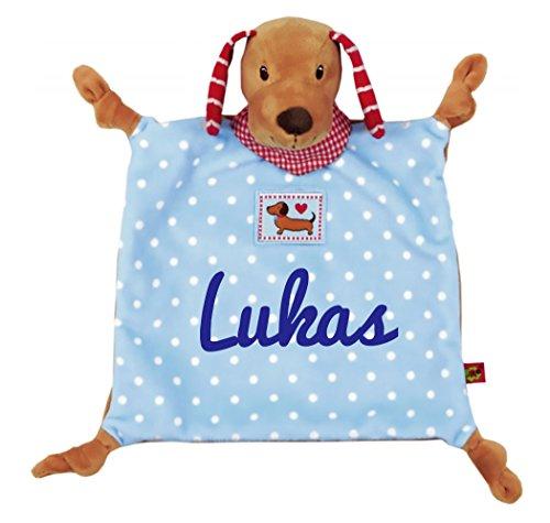 Spiegelburg Babyglück Schnuffeltuch Hund mit Namen bestickt 14443