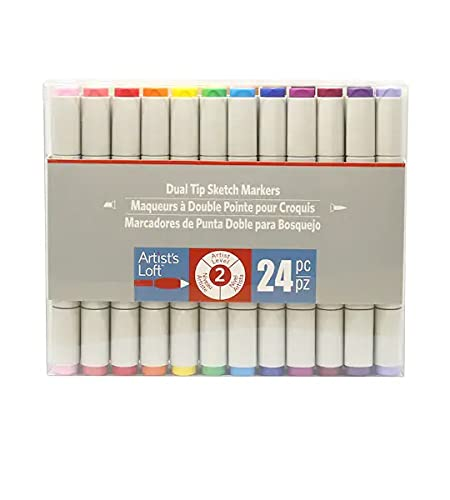 Artist's Loft 24 Color Dual Tip Markers