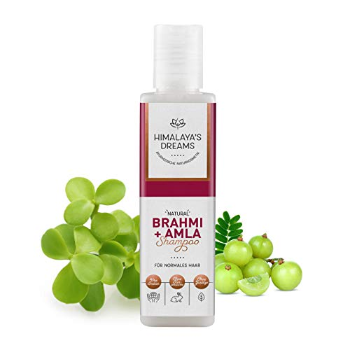 Ayurveda Naturkosmetik Shampoo von Himalaya`s Dreams, Brahmi & Amla 200ml Shampoo ohne Silikon Sulfate und Parabene