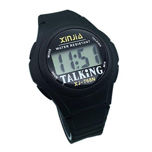 Nergo Reloj Parlante en Español para Ciegos, Niños, y Los Ancianos, Deportes Electrónicos Hablar Relojes Gatget Regalo 768TS-ES