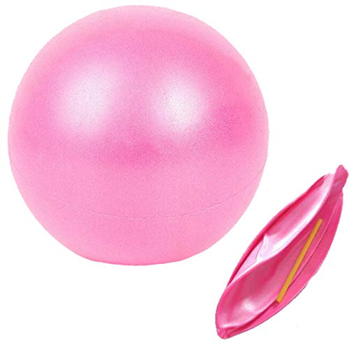 Slosy Pelota para Pilates 25cm Rosa Balon de Yoga Fitness Accesorios Gym para Embarazadas Material de Gimnasio Bola Pequeña Gymball Entrenamiento Mejora la Postura Equilibrio