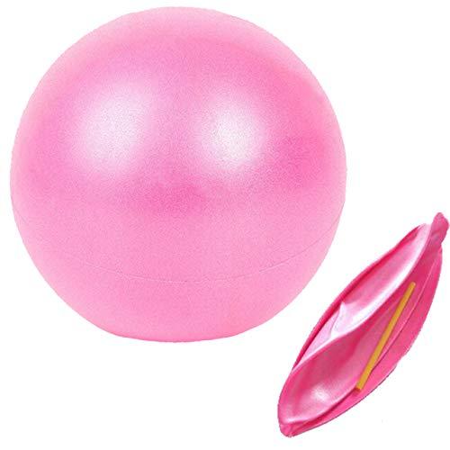 Slosy Pelota Pilates 25cm Rosa Accesorios Gym Balón Yoga para Embarazadas Pequeño Material de Gimnasio Bola Pequeña Fitness Mini Ball Entrenamiento Mejora la Postura Equilibrio Rehabilitacion